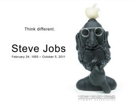 STEVE JOBS CLAY CARICATURE by RommelEstanislao