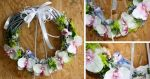 Wicker wreath with a white orchid accent and littl by art-sisters