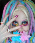 . eating rainbow clouds . by Countess-Grotesque