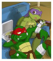 TMNT: Sit still by NamiAngel