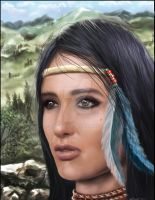 Native American Woman by lberry1976