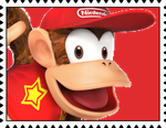 Diddy Kong's Stamp by RalphAguilar462