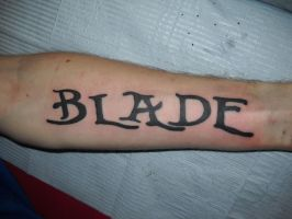 Blade's Forearm by Lucky-Cat-Tattoo
