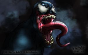 Venom Illustration by BlackPicasso1989