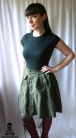 Army Fatigues Upcycled Skirt by smarmy-clothes