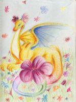 The dragon Flora by the-suns-moon