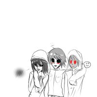 Kate,Masky and Hoody . by HakaynaNozomi