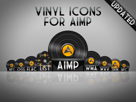 AIMP2 vinyl icons by aablab