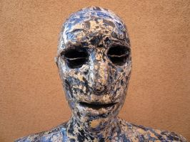 Blue painted man, head and shoulders by Art-of-Eric-Wayne