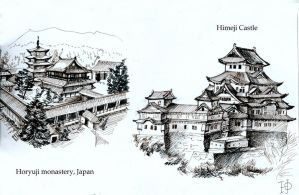 Japanese castle by Redilion