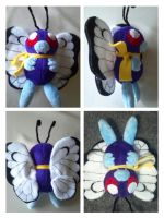 Ash's butterfree plush by LRK-Creations