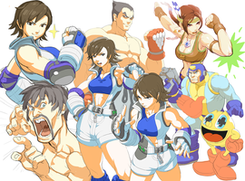 StreetFighter  X Tekken : sketch by oetaro