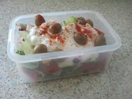 My Lunch Salad - Cottage Cheese by DNOStallone