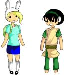 Fionna and Toph by tacnyan