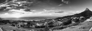 Camps Bay (BW) by BookofThoth