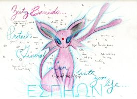 Espeon bringer of Light by RainAtronach