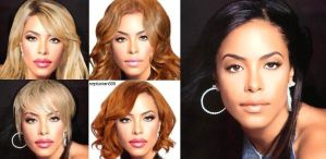 Aaliyah- different hairstyles by Divainprogress88