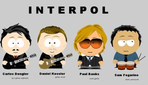 Interpol in South Park by FunnyLittleBunny
