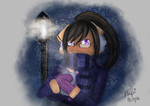 Aria in the snow by TroodontheDestroyer