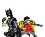 batman and robin (digital) colored by 7ylercC94