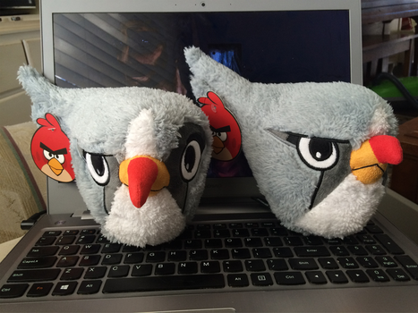 Angry Birds Contest Silver Plush by KasaraWolf