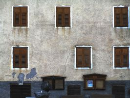 Six closed windows by edelweiss26