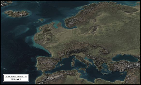 Coastlines of the Ice Age - Europe by atlas-v7x