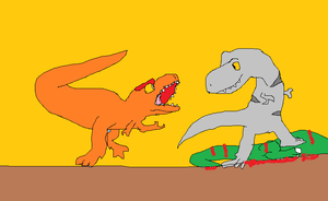 Albertosaurus vs Daspletosaurus by koopalings98