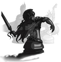 Chess Piece Chapter Headers: Black Knight by Mysterious573