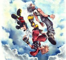 Kingdom Hearts 3D box cover artwork by Scorpius02