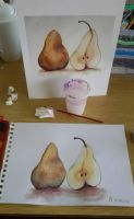 Aquarelle pears by Jec-chan