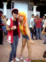 Cosplay De Red y Misty En Feria Mundo Anime 2012 by EnriqueNg