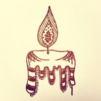 Zentangle : Candle by BloodyBlackRoses26