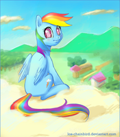 Rainbow Dash speedpaint by Los-Chainbird