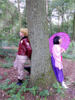 Alfred and Sakura : Cosplay by SparxPunx
