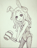 Ruruka-chan Easter Bunny sketch by The-SweetShop-FC
