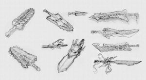 Bone Weapons 2 by GoldenOne