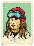 Snowboarder Girl vintage by LinaLightning