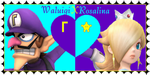 Waluigi X Rosalina stamp by SirJTheFirered