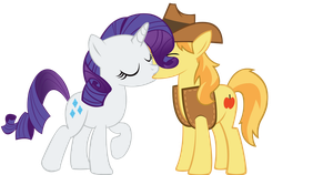 braeburn and rarity by sofunnyguy