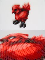 Final Fantasy Tactics Red Chocobo bead sprite by 8bitcraft