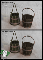 Wood Bucket Assets Skywind by Otto-V