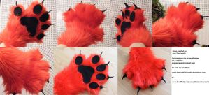 Red Paw by TheKareliaFursuits