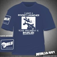 Blu Team Rocket Launcher Shirt by StacMaster-S