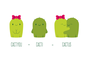 Cactyou + cacti = cactus by drawingsbytom