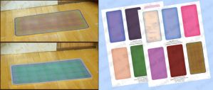 DIY Dollhouse Printable Colorful Rectanlge Rugs by Kyle-Lefort