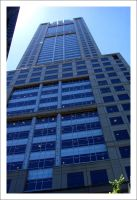 BHP Building Vertical Close Up by decryption