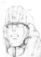 Rodimus Head Shot (sketch) by J-Rayner