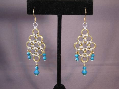 Chain Mail Earrings by NonProphetable