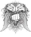 Flying Fist T-shirt design by furious373